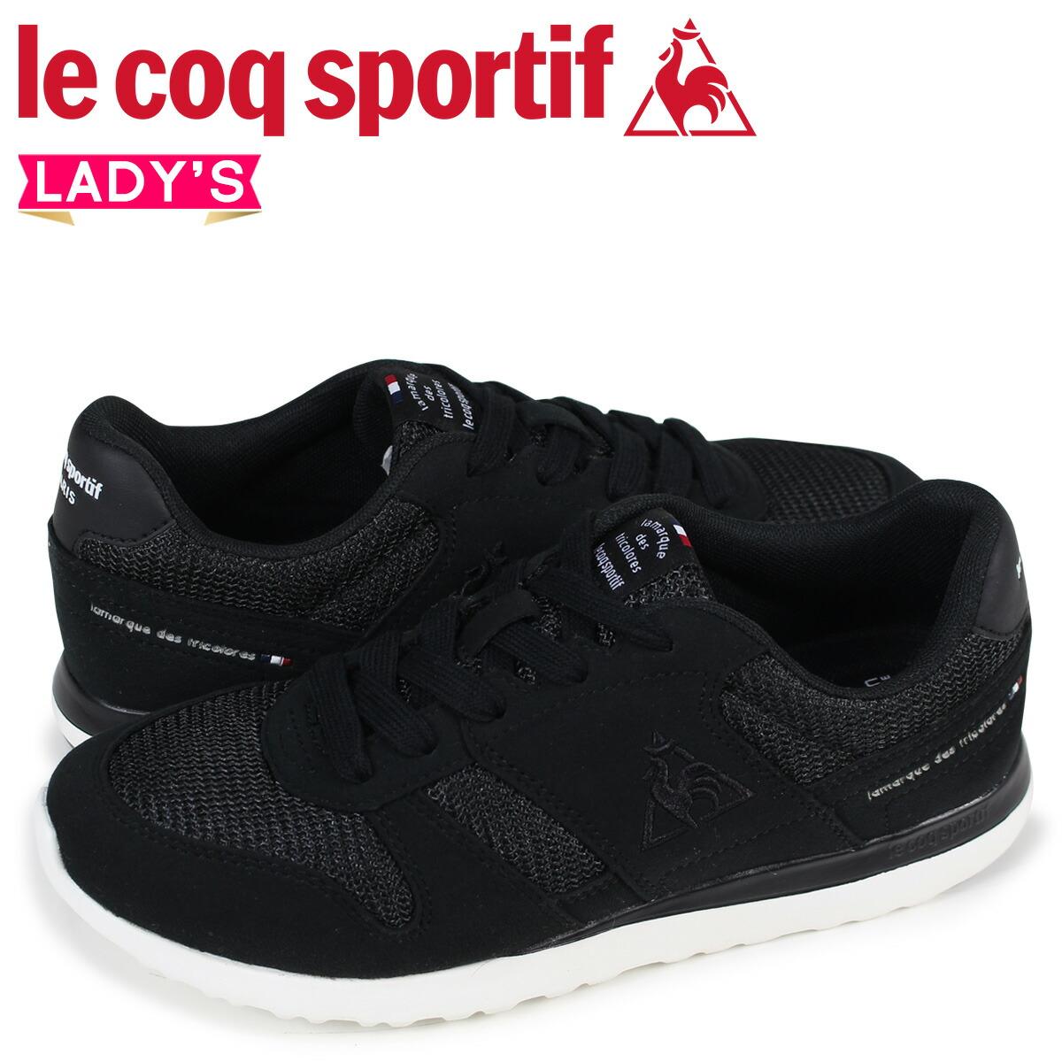 ルコック スポルティフ le coq sportif レディース スニーカー LA セーヌ SEINE ブラック QFM-7303BB [2/10 新入荷]