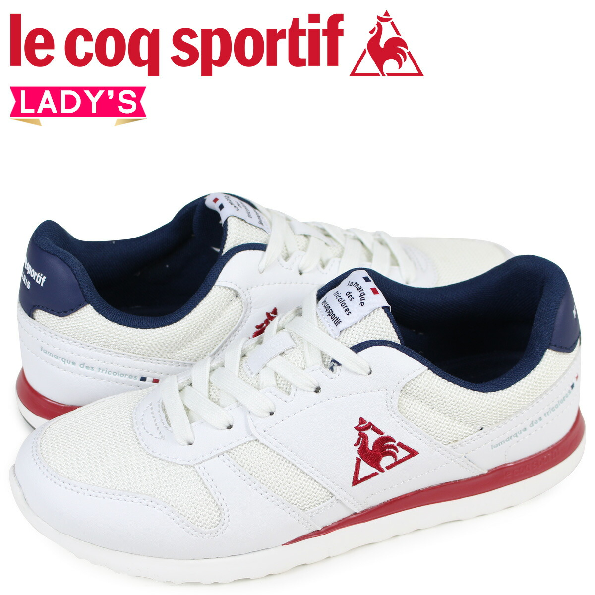 ルコック スポルティフ le coq sportif レディース スニーカー LA セーヌ SEINE ホワイト QFM-7303WN [2/10 新入荷]