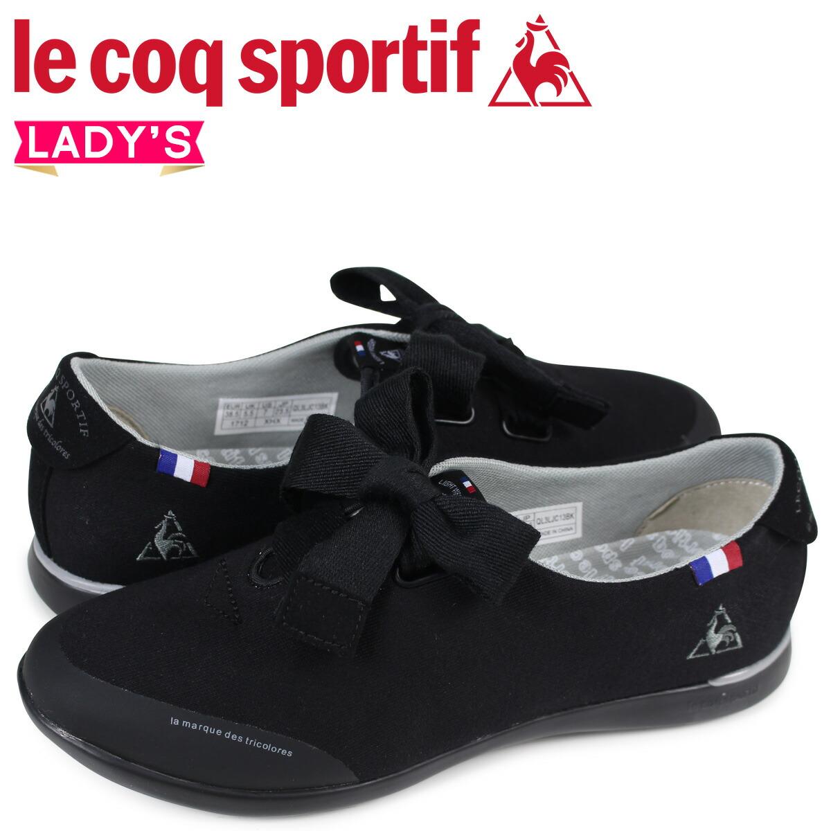 ルコック スポルティフ le coq sportif レディース スニーカー LA エリゼ ELYSEE ブラック QL3LJC13BK [2/10 新入荷]