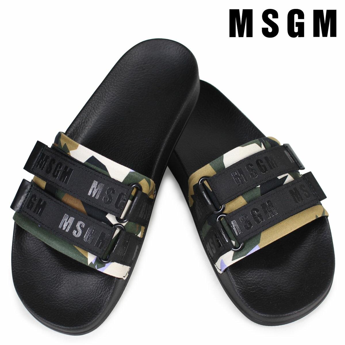 MSGM サンダル メンズ エムエスジーエム シャワーサンダル SHOWER SANDALS 2440MS105 320 ブラック [2/7 新入荷]