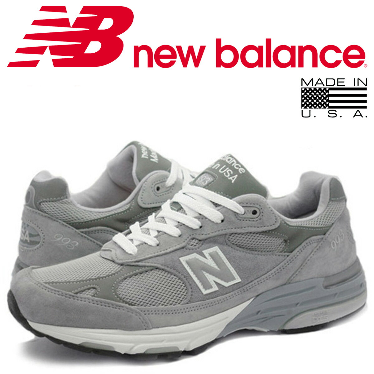 separation shoes b44d3 d08a0 new balance 993 men's New Balance sneakers MR993GL D Wise MADE IN USA gray