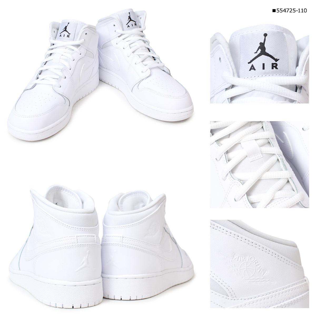 ... レディースAIRJORDAN1MIDGSエアジョーダン1ミッド靴ブラックホワイト · Larger View