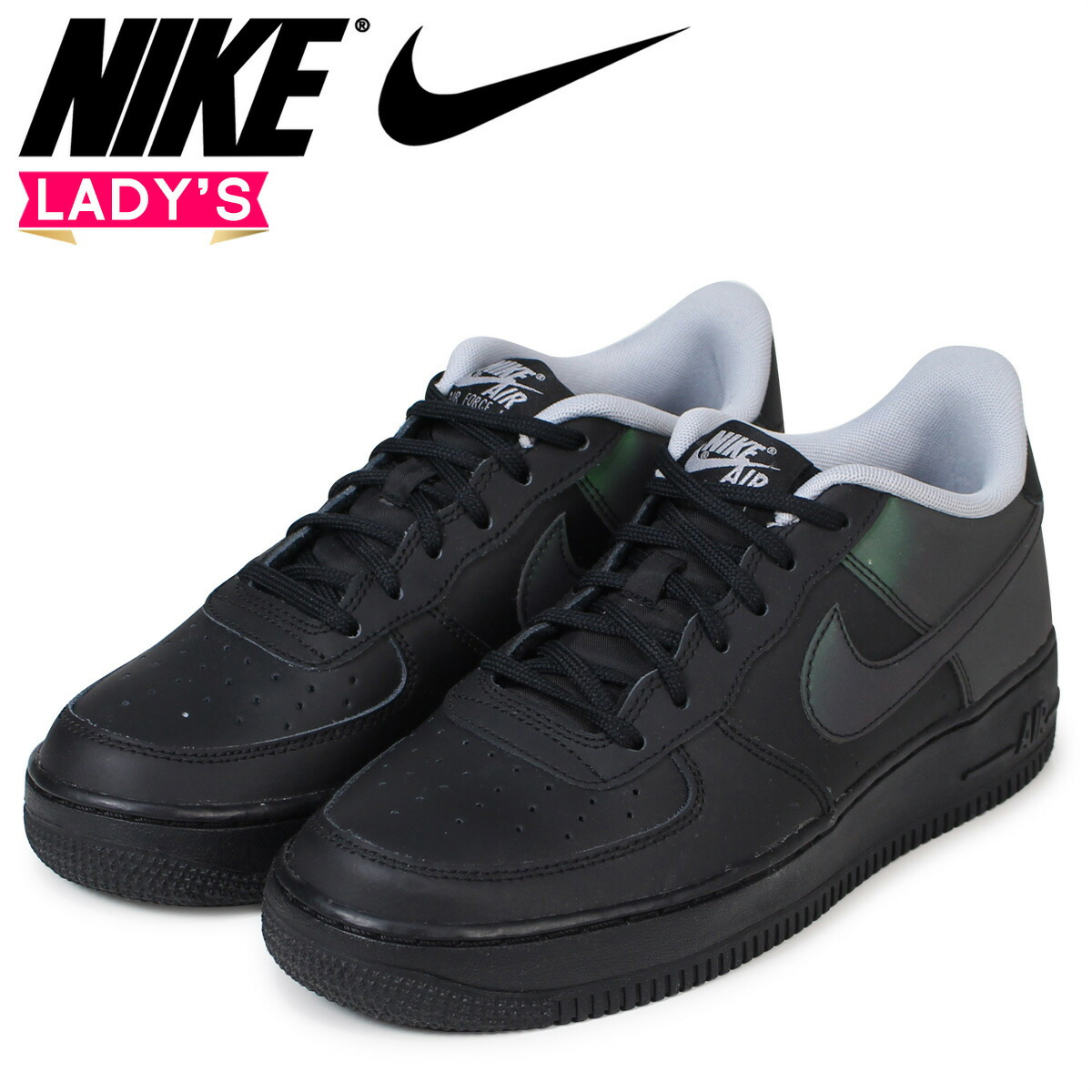 NIKE Nike air force 1 LV8 Lady's sneakers AIR FORCE 1 GS 820,438 009 shoes black black
