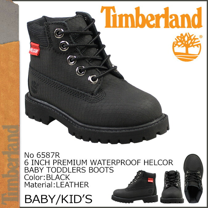 6 Inches Of Timberland Timberland Baby Kids Premium Waterproof Boots 6 Inch Premium Waterproof Helcor Baby Toddlers Boots Leather Youth Child 6587R Black Infant Timberland Boots Shoes