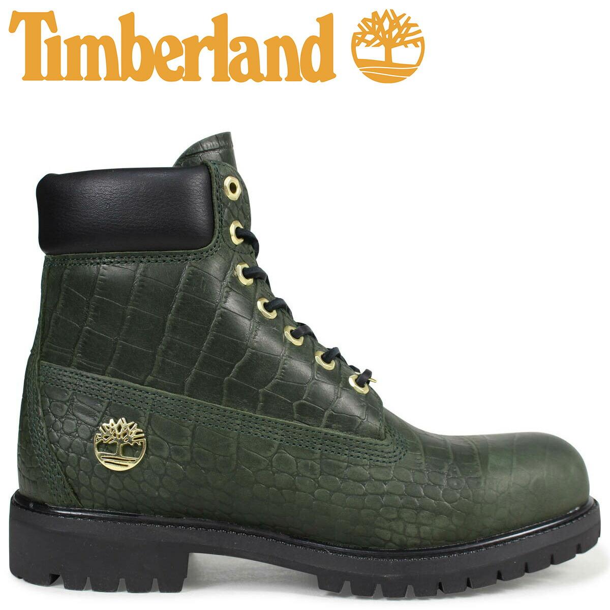 ティンバーランド ブーツ メンズ 6インチ Timberland 6INCH PREMIUM BOOT A1PIJ Wワイズ プレミアム グリーン [2/19 新入荷]