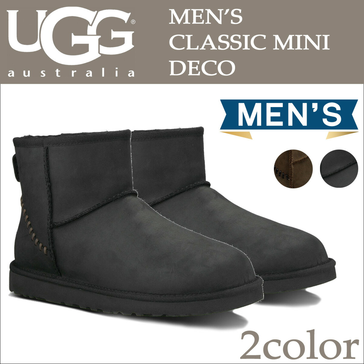 92672c892d9 アグ UGG men classical music mini-mouton boots MENS CLASSIC MINI DECO 1003945