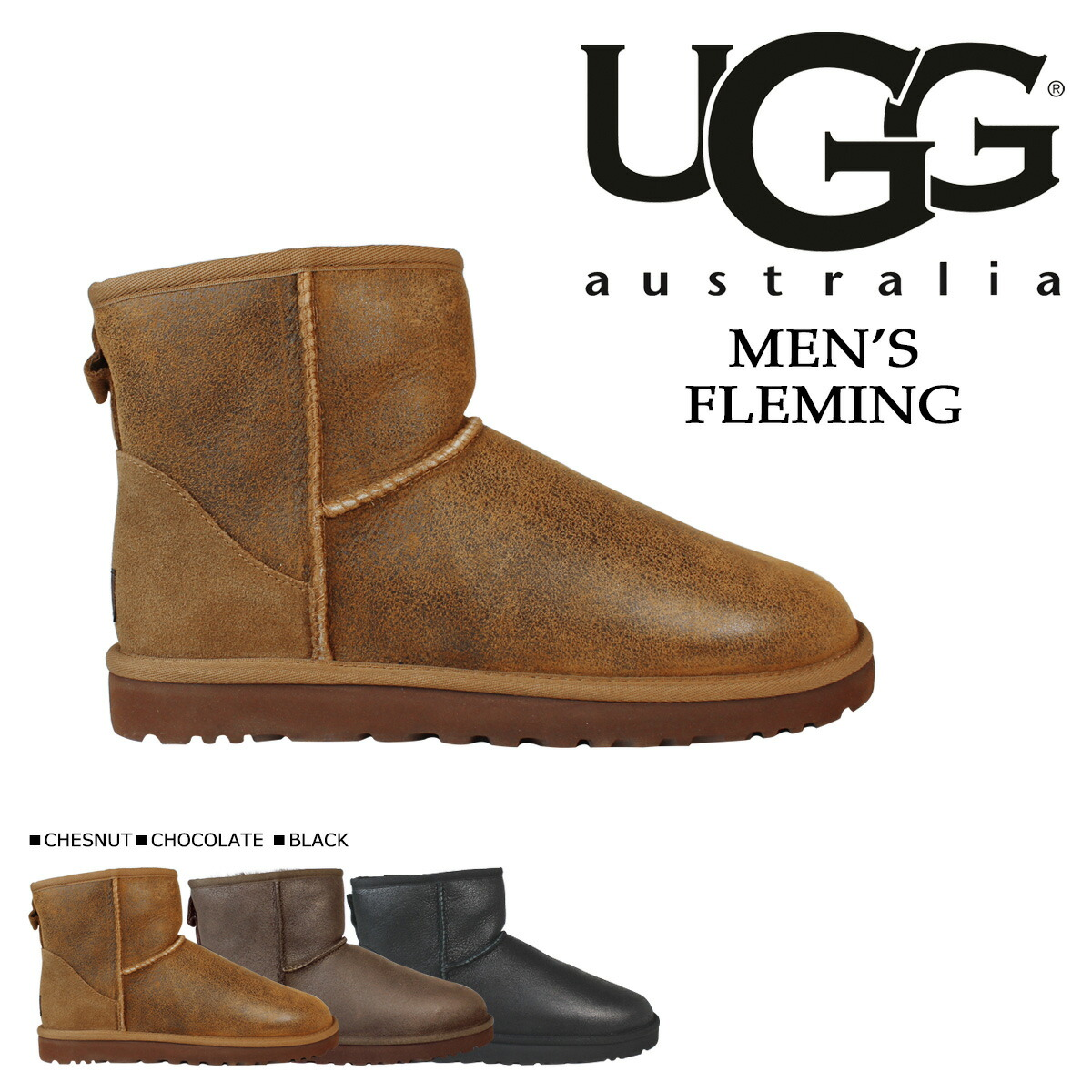9911b9b71d3 アグ UGG men classical music mini-mouton boots MENS CLASSIC MINI BOMBER  1007307 sheepskin