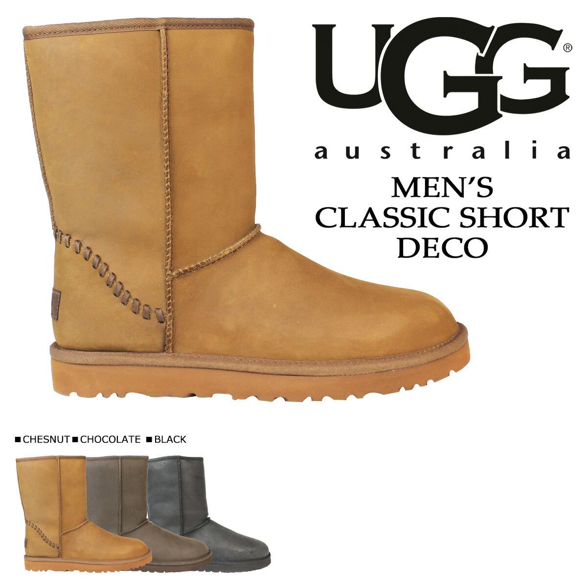 fe4b1fa9a18 アグ UGG men classical music short mouton boots MENS CLASSIC SHORT DECO  1007307 sheepskin