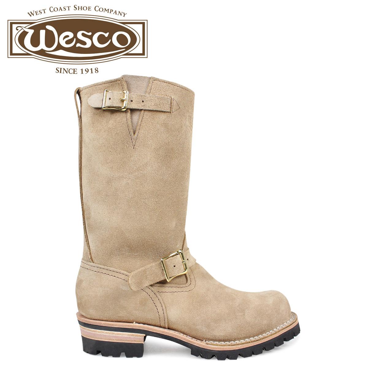 ウエスコ ボス WESCO ブーツ 11インチ エンジニア 11INCH BOSS Eワイズ スエード メンズ ベージュ BE7700100 ウェスコ [2/1 新入荷]