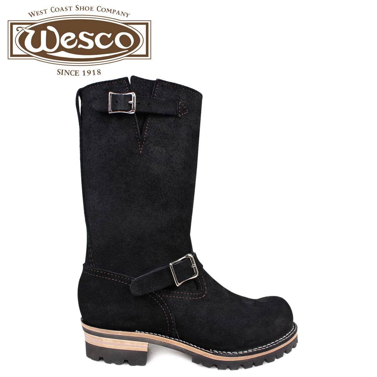 ウエスコ ボス WESCO ブーツ 11インチ エンジニア 11INCH BOSS Eワイズ スエード メンズ ブラック BK7700100 ウェスコ [2/1 新入荷]