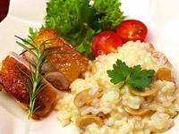 水郷どりのもも肉と鶏がらスープを使ったレシピ