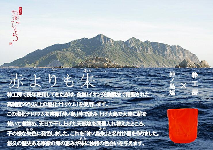 博多びーどろ粋工房楽天市場店 沖ノ島朱(あか)タンブラー NM-14 1