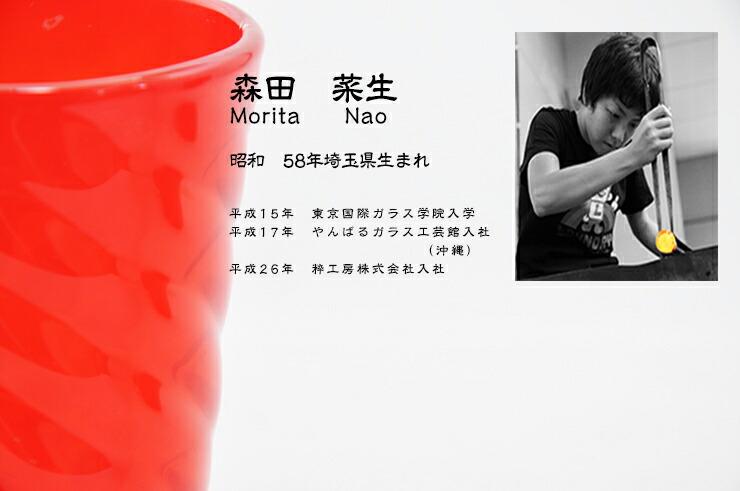 博多びーどろ粋工房楽天市場店 沖ノ島朱(あか)グラス NM-105 2