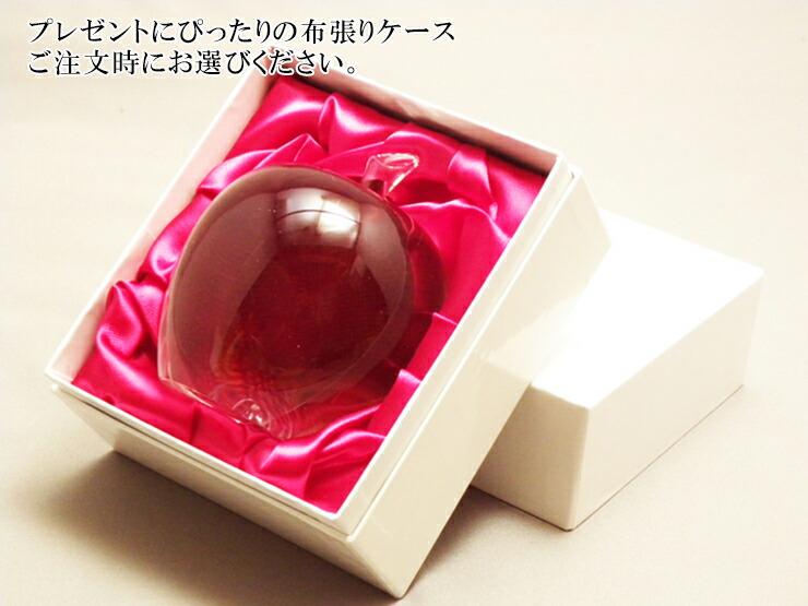 博多びーどろ粋工房楽天市場店 ガラスのリンゴ ガラス細工 名入れ05