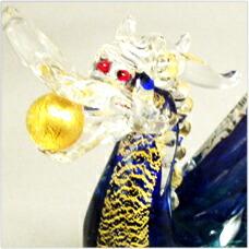 ガラスの昇龍 宝龍 緑(たからりゅう みどり)