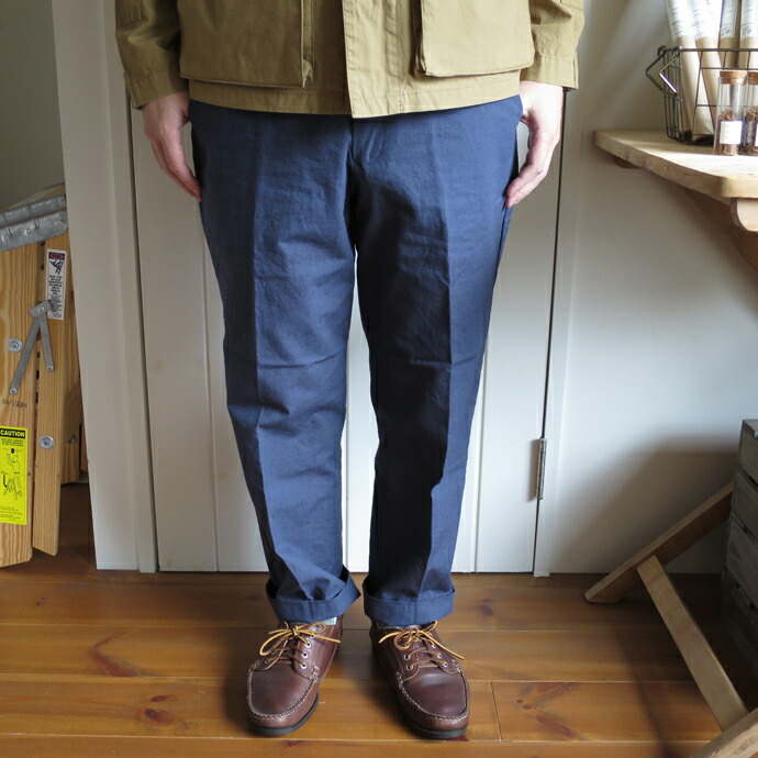 ENDS and MEANS  Grandpa Trouser / Cotton Linen
