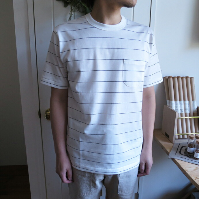ENDS and MEANS Border Pocket Tee エンズアンドミーンズ ボーダーポケットTシャツ