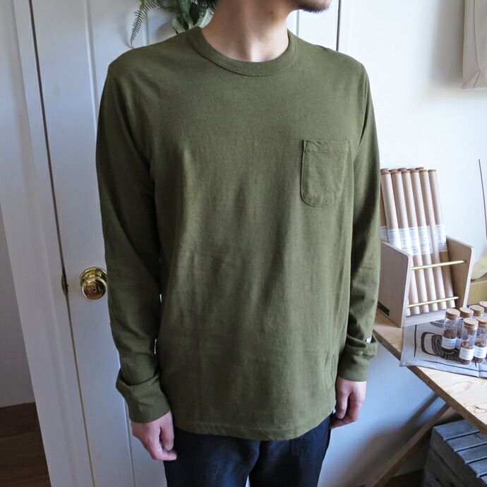 ENDS and MEANS Pocket Tee L/S エンズアンドミーンズ  ポケットTシャツ 長袖