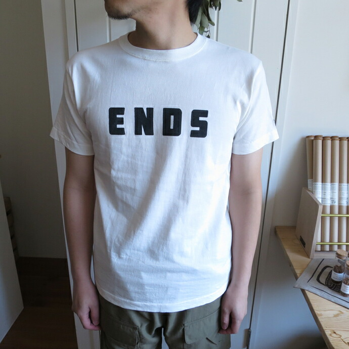 ENDS and MEANS FONT Tee エンズアンドミーンズ フォント Tシャツ
