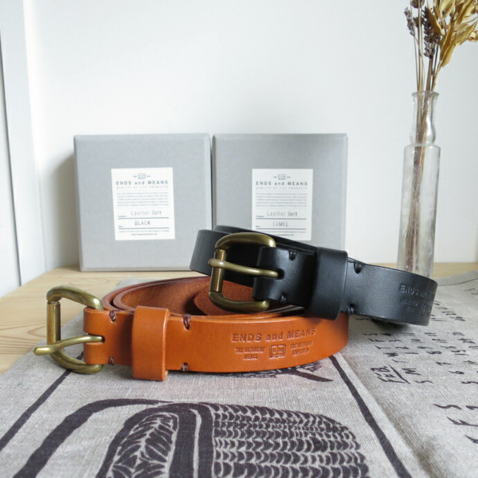ENDS and MEANS Leather Belt