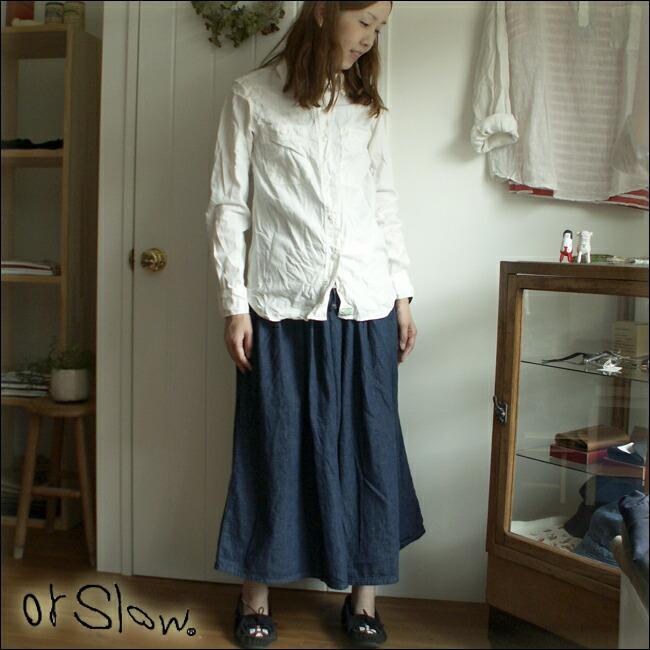 orslow オアスロウ  【LADY'S】 GATHER SKIRT ギャザースカート