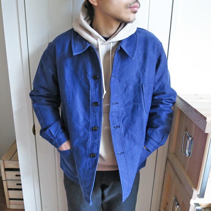 50's French Work Jacket / Moleskin USED フレンチワークジャケット / モールスキン