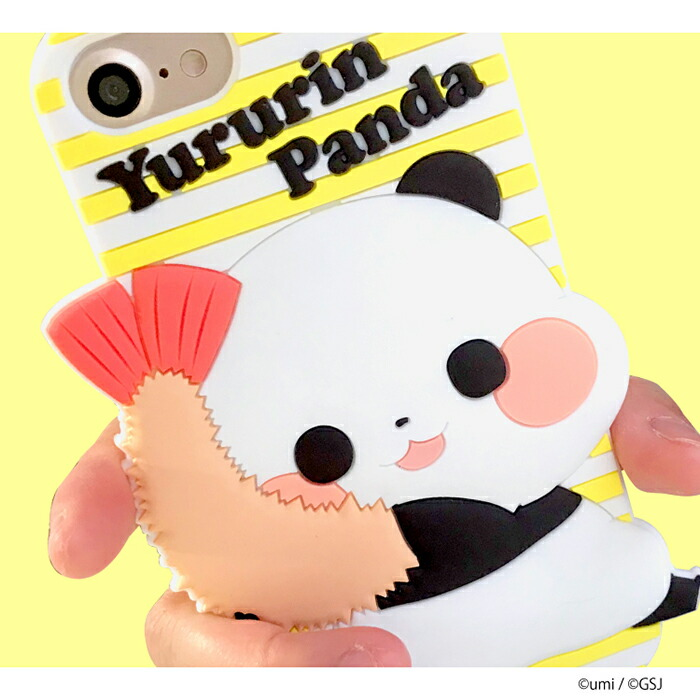 うみ ゆるりんパンダ シリコンiPhoneケース