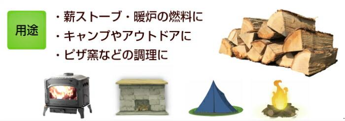 キャンプに・暖炉に・薪ストーブに