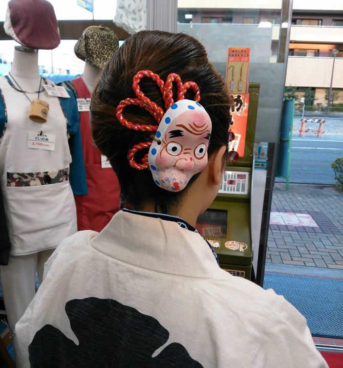 ねじり棒お祭り髪型アレンジ例
