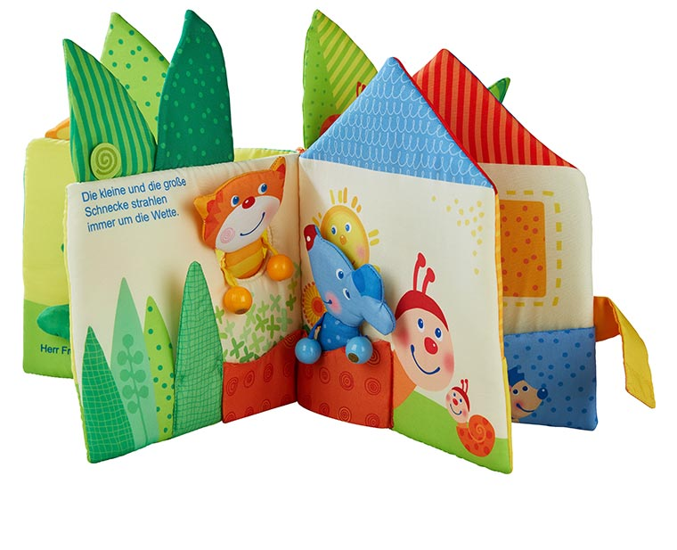HABA ハバ スクロースブック・リトルリーフハウス HA304129 ベビー 赤ちゃん 知育玩具 おもちゃ 布絵本 0歳 1歳 2歳 出産祝い