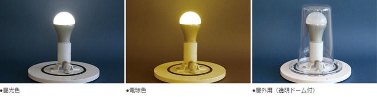 LEDを標準装備しております。プラグを差し込むだけですぐ点灯。