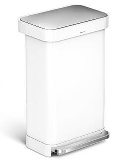 simplehuman レクタンギュラ-ステップカン 45L ホワイト CW2027