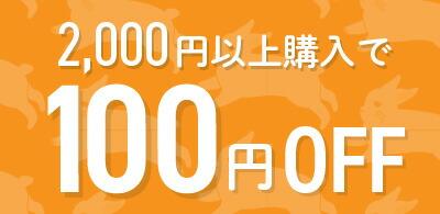 【お買い物マラソン限定】2,000円以上購入で100円OFF