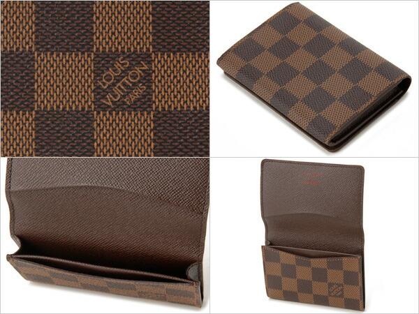 wholesale dealer 1c60b 8e39f ルイヴィトン LOUIS VUITTON ダミエ 名刺入れ 62920D ダークブラウン|s-select