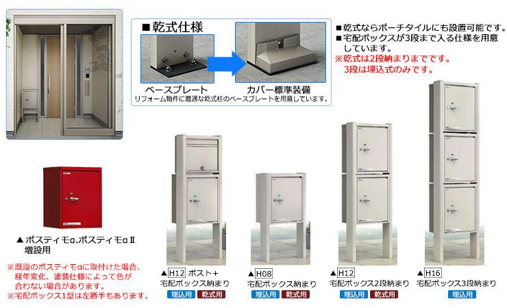 YKKAP 宅配ボックス1型バリエーション