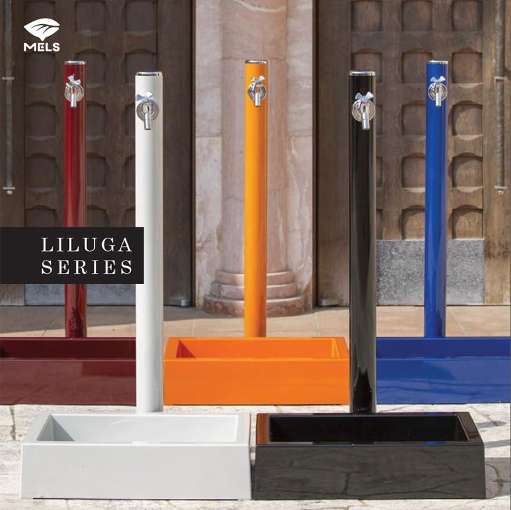 リラガシリーズ丸形アルミ水栓柱