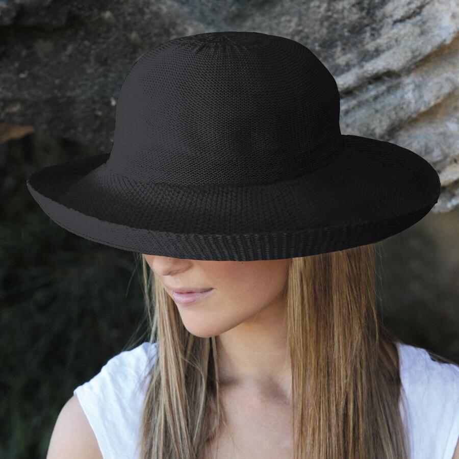 Sunglobe Sun Hat Ladies Hat Silhouette Style Black