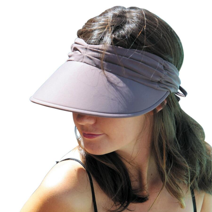 7450d9d1ba5c31 Sunglobe: Sun hat - Ladies visor - Lycra Adjustable Visor ...