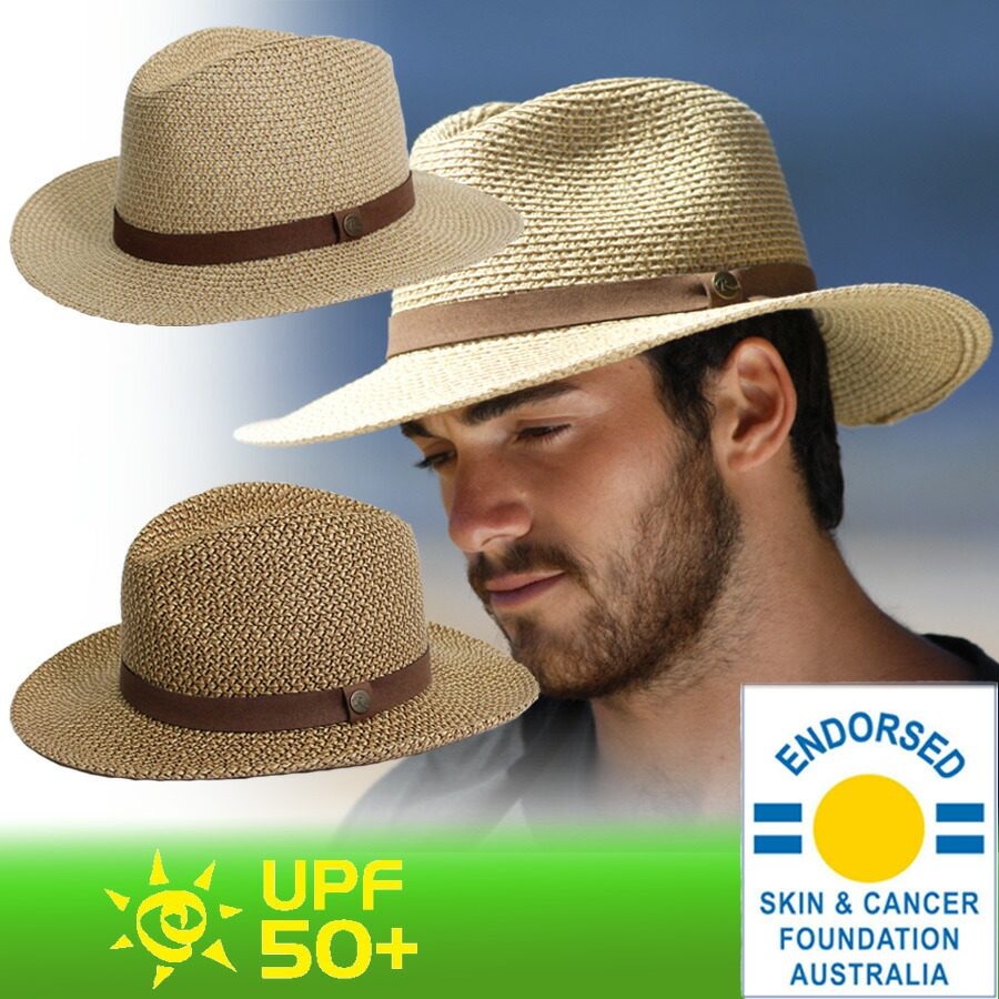 Sunglobe  The straw hat straw hat UV cut mens Hat - mens ソフト ... 62a0db4445e