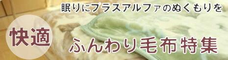 ふんわり毛布特集