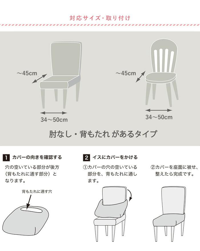 柔らかニットの座面用チェアカバーの適応サイズおよび、取付方法のご案内