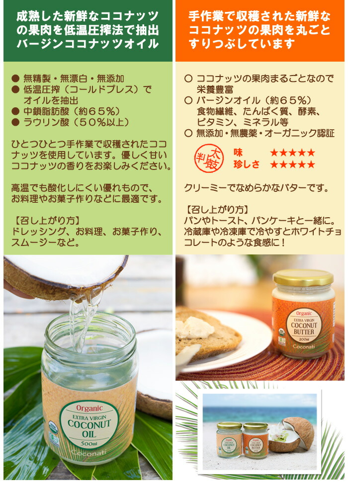 ココナッツオイルの選び方のポイント