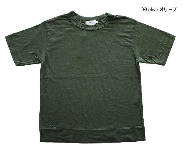 RINEN 17020 リネン 20/1 オーガニック天竺 クルーネック Tシャツ カットソー YASUMI