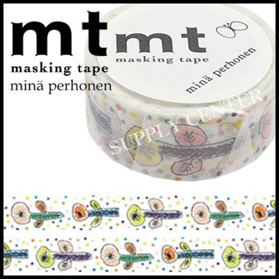 【メール便可能】カモ井 マスキングテープ mt×mina perhonen(ミナペルホネン・flower・white)<20mm幅> MTMINA23