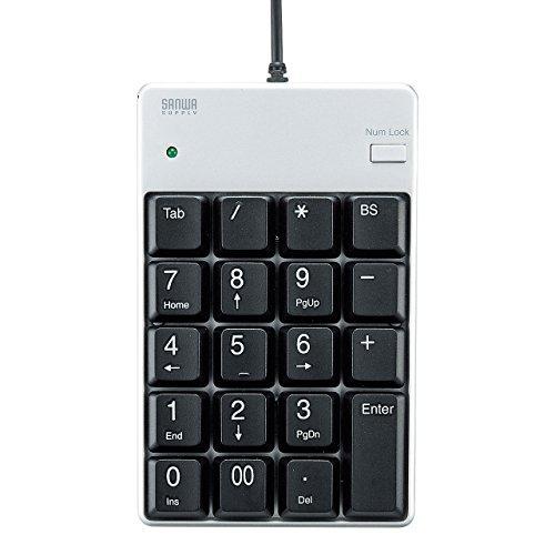 サンワサプライ USB2.0ハブ付テンキー NT-17UH2PKN(899) 00028934 【まとめ買い3個セット】