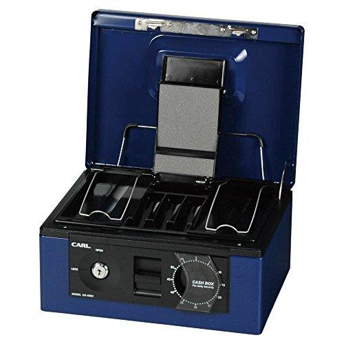 カール事務器 キャッシュボックス ブルー CB-8560-B 00001675 【まとめ買い3個セット】