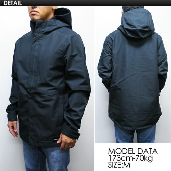 Hurley Mens JJF Outrider 3 Shell Hooded Jacket