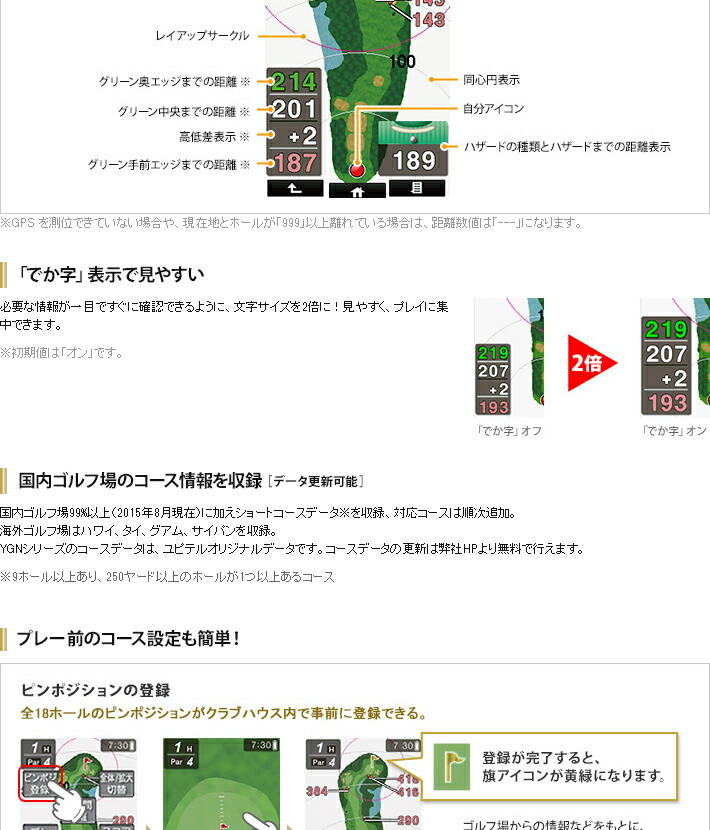ユピテル ゴルフナビ YGN4800