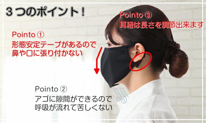 フェイスマスク 3つのポイント