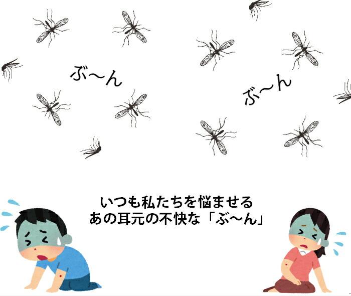小さな虫、害虫に効果あり。耳元の不快なモスキート音